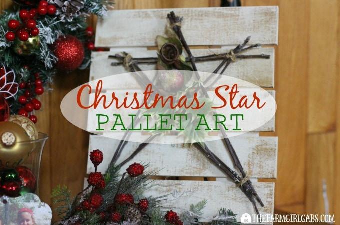 Christmas Star Pallet Art