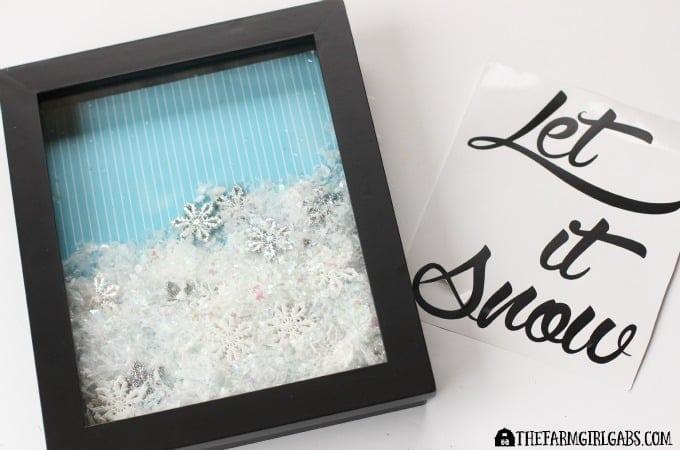 Let It Snow Shadow Box Step 3