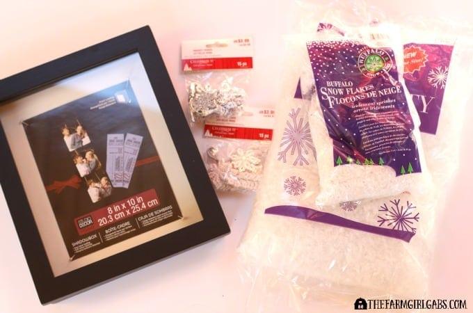 Let It Snow Shadow Box Supplies