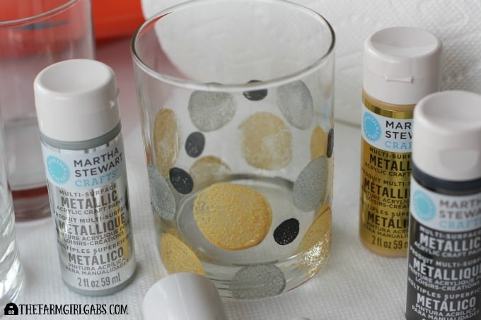 Art Deco Painted Glasses - Painting 2