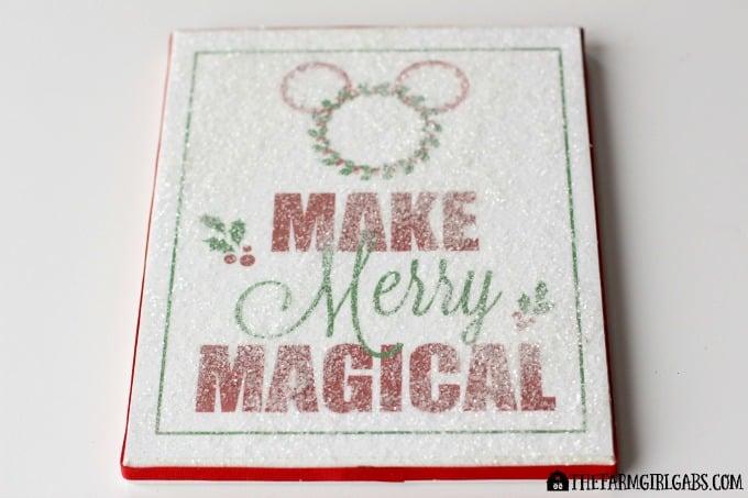 Disney Holiday Glitter Art Feature 1