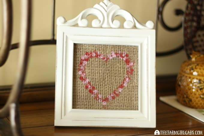 Stamped Burlap Heart Art - Feature 3