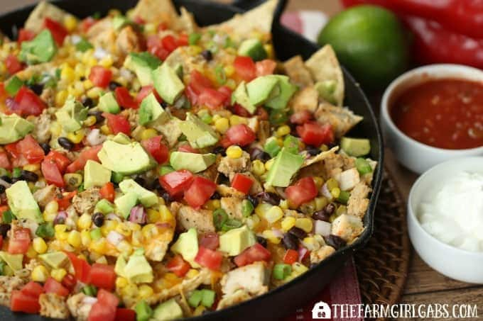 Rev up your engine while watching the race with these Spicy Southwestern Chicken Skillet Nachos. Score big and your Game Day party with a fantastic spread of these Amazing Dips, Apps,And Snacks