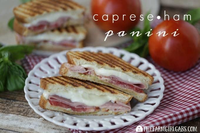 Caprese Ham Panini