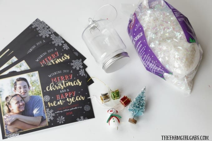 DIY Snowman Snow Globe Ornament