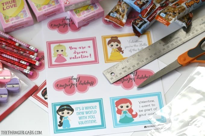 These Disney Princess Valentine Treat Bags are a fun idea for kids to hand out to their friends at school for Valentine's Day. You can fill these with candy, crafts, or anything you want!