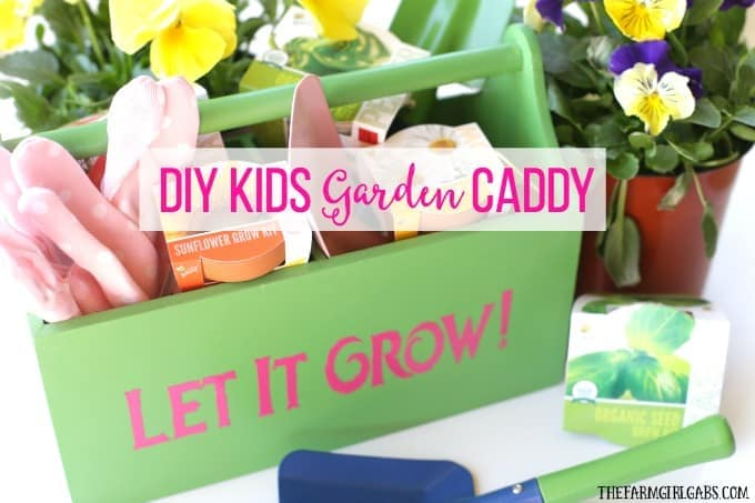 DIY Kids Gardening Caddy