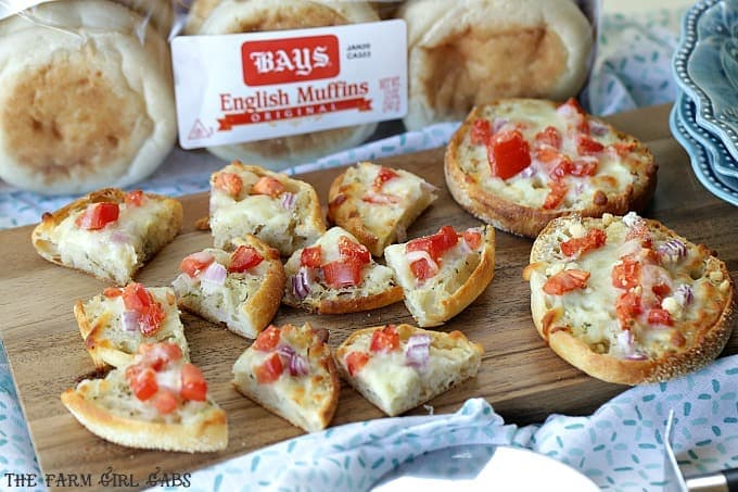 Serve up with zesty White Pizza Bites recipe at your next celebration. Be sure to also Enter The Jingle All The Bays Muffin Event!