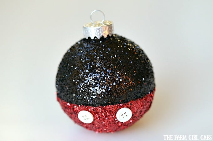 Mickey Mouse Glitter Ornament
