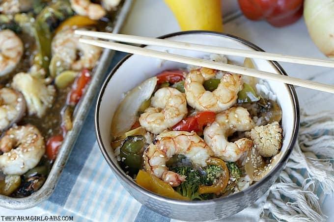 Asian Sheet Pan Shrimp