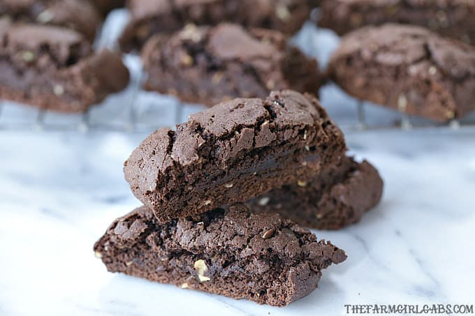 Brownie Almond Biscotti
