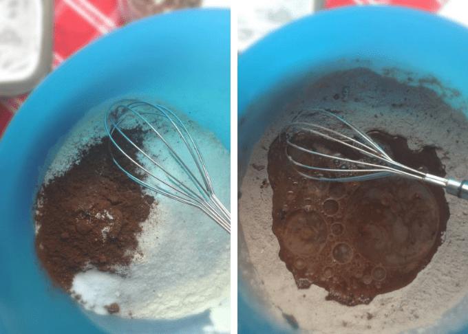 One Bowl Chocolate Cake ( No eggs, No butter)