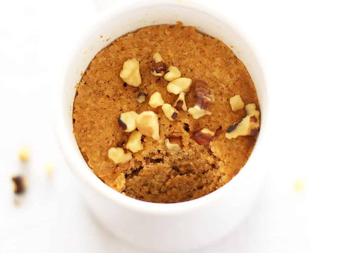 Healthy Pumpkin Mug Cake