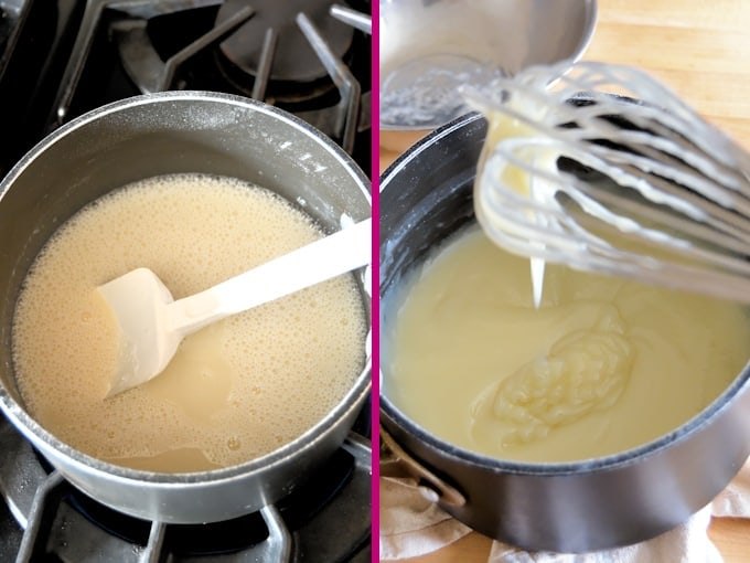 pudding base for ermine frosting before and after cooking