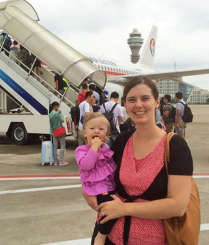 Boarding Plane in Shanghai