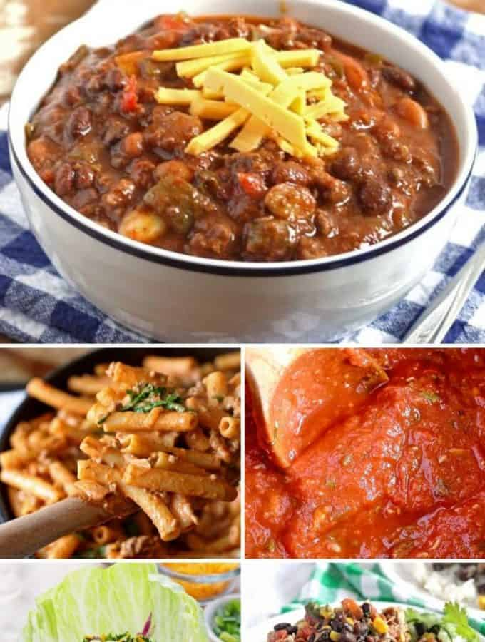 Recipes using Canned Tomatoes - great dinner and lunch recipes using all varieties of canned tomatoes.