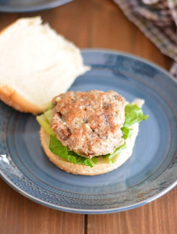 Gruyere and Mushroom Turkey Burgers