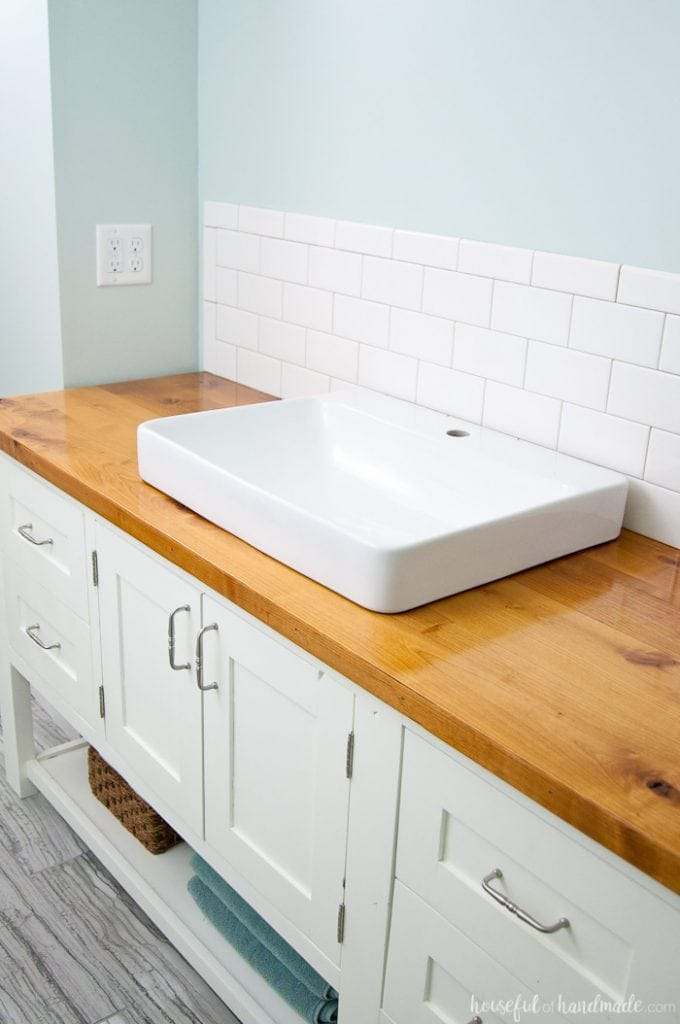 the latest df18a 1ff23 How to Build & Protect a Wood Vanity Top - Houseful of Handmade