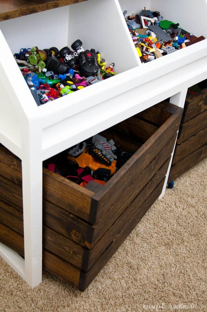 Rustic Toy Storage Unit Build Plans - Houseful of Handmade