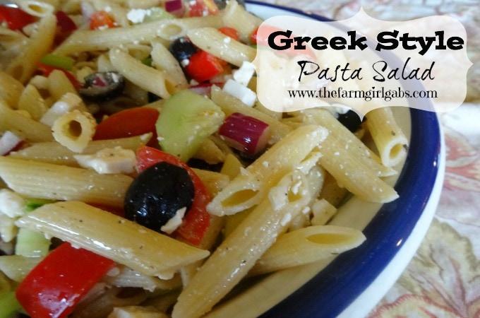 Greek Style Pasta Salad 2