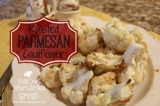 Roaster Parmesan Cauliflower is a quick recipe for a weeknight meal or Thanksgiving dinner.