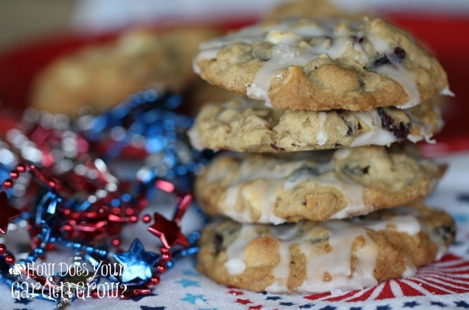 Red White Blue Oatmeal Cookies Feature 1