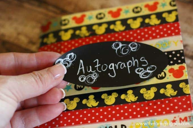 Easy Disney Autograph Book - Step 3