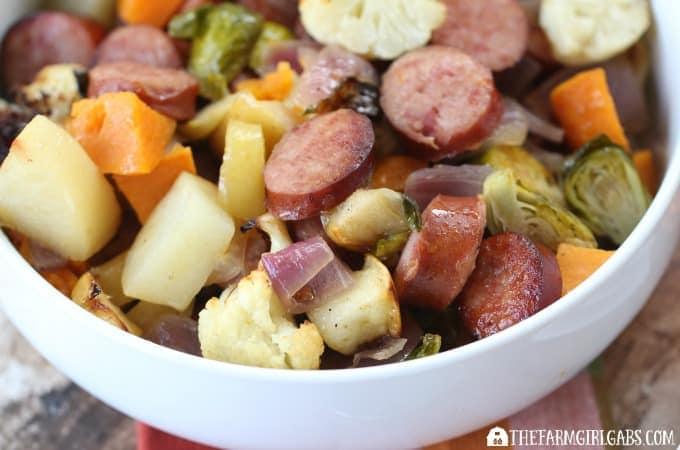 Beef-Braised Kielbasa with Harvest Vegetables - Feature