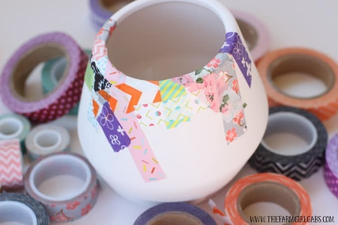 Washi Tape Pen and Pencil Holder
