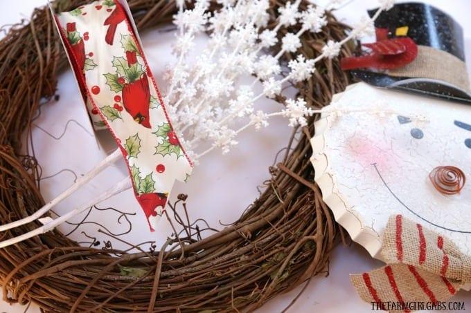 Jolly Snowman Christmas Wreath