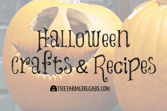 Halloween Crafts & Recipes on The Farm Girl Gabs.
