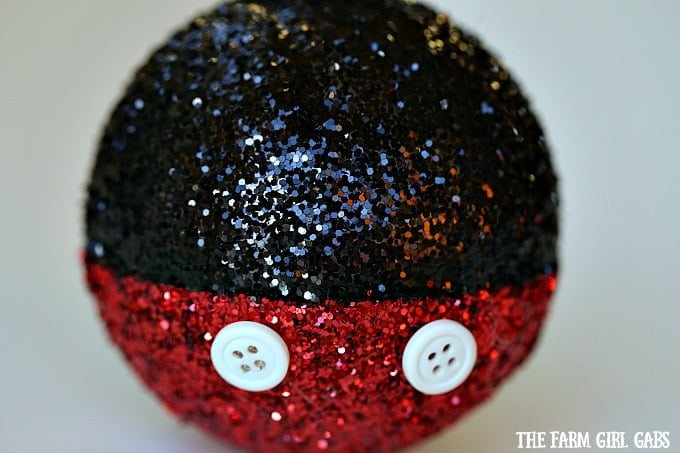 This Magical Mickey Mouse Glitter Ornament is the perfect DIY project for your Disney-inspired Christmas tree.