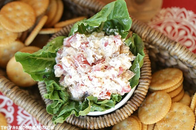 Kick off your game day party with this easy Game Day BLT Dip.