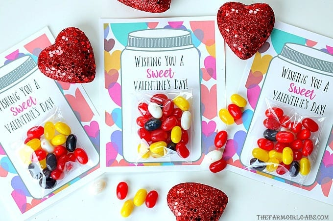 Yourkids will have a sweet Valentine's Day making these adorable Sweet Candy Jar Valentines for their friends.