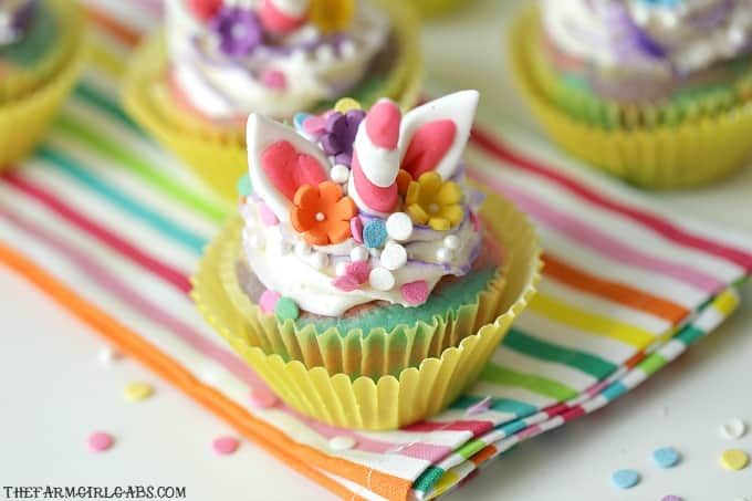 Rainbows and Unicorns collide to make these adorable Rainbow Unicorn Cupcakes. These magical cupcakes are perfect to serve at your next party.