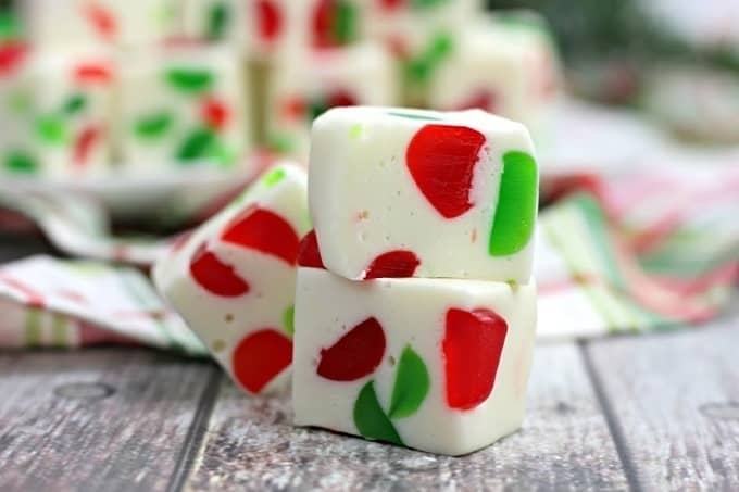 Make a batch of this delicious Christmas Gumdrop Nougat to share with friends and family during the holidays. This easy candy recipe is a real treat.