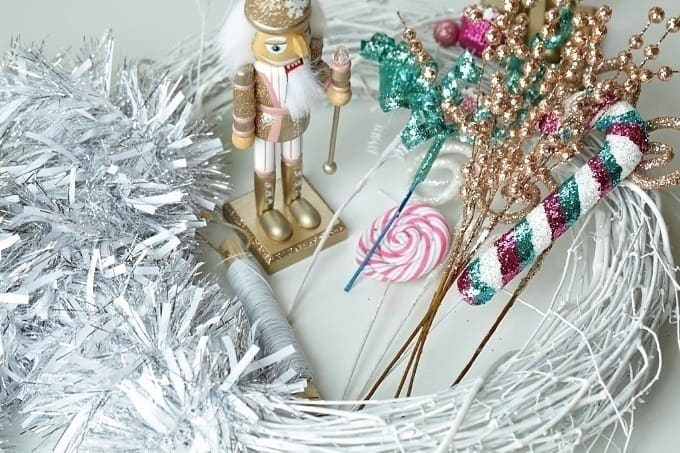 This whimsical Nutcracker Wreath is an easy DIY craft you can make to celebrate the Christmas Season.