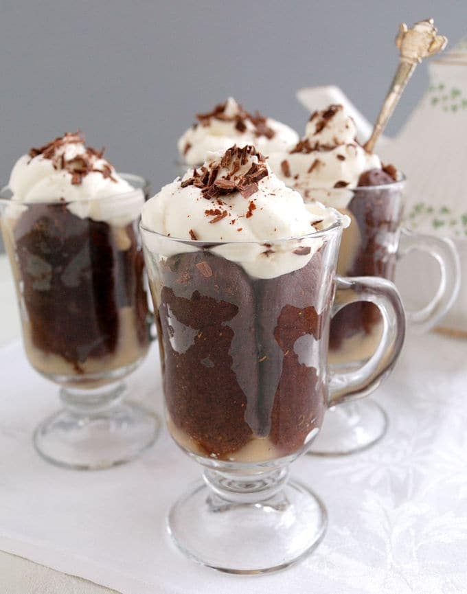 St. Patrick's Day Recipes Irish coffee trifle