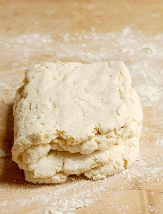 folded buttermilk biscuit dough