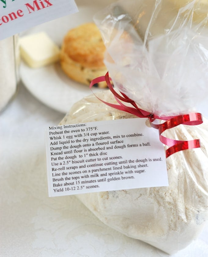 homemade cherry almond scone mix directions