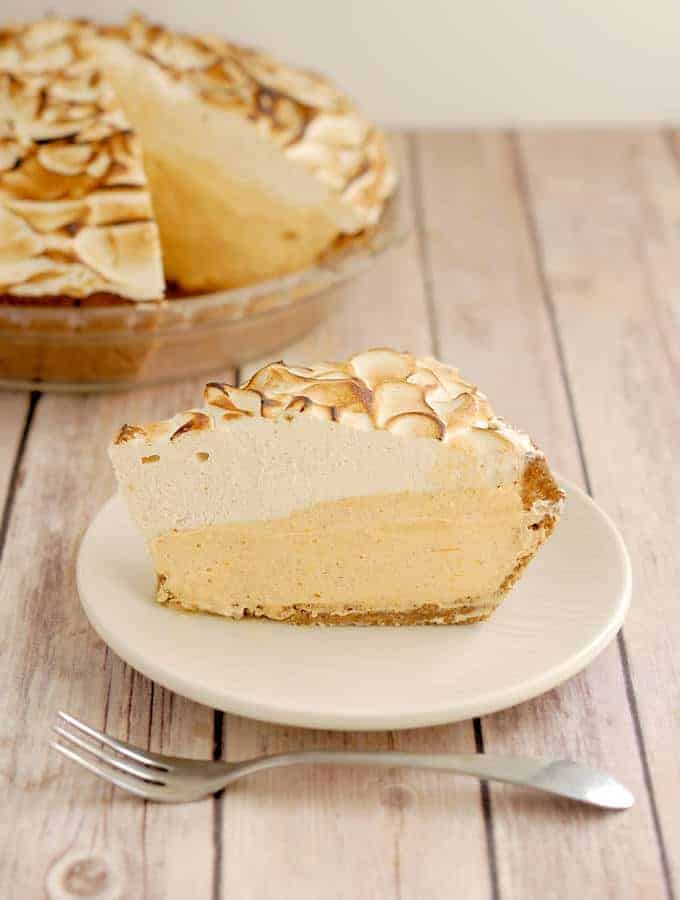pumpkin mousse pie with meringue
