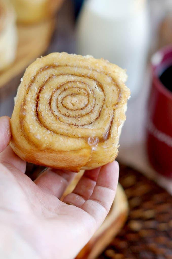 a sourdough cinnamon bun