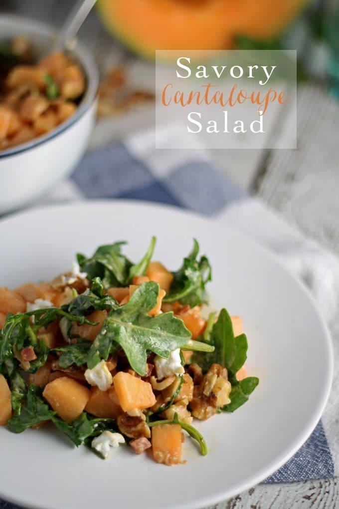 Savory Cantaloupe Salad | honeyandbirch.com