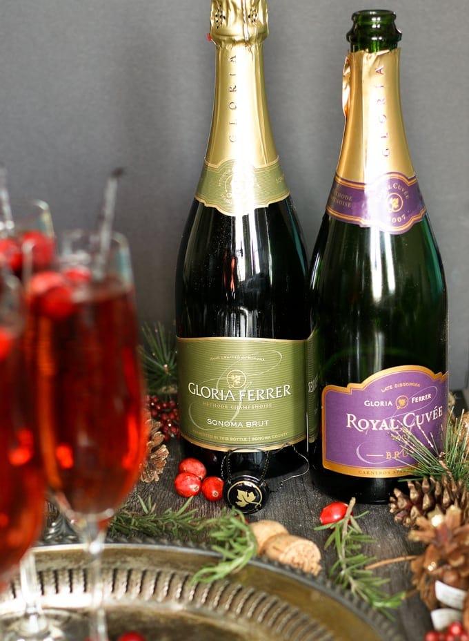 bottles of sparkling wine