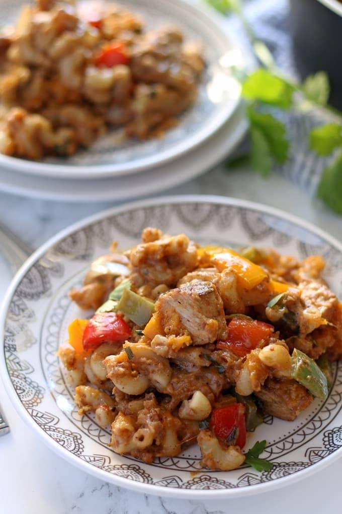 Chicken Fajita Mac And Cheese 187 The Thirsty Feast