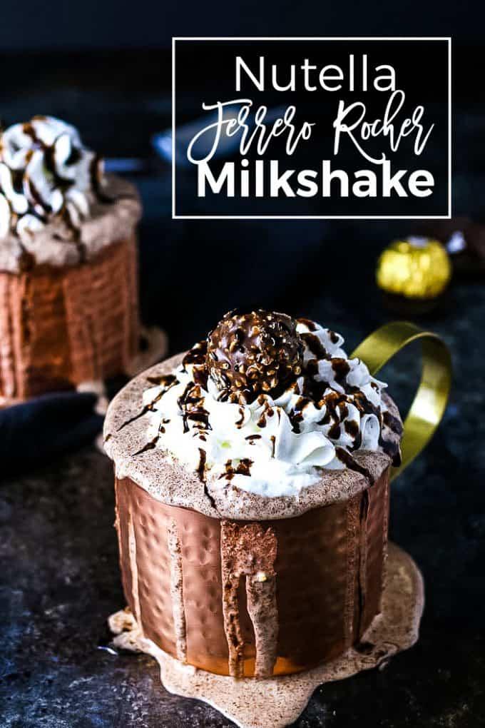 Nutella Ferrero Rocher MIlkshake