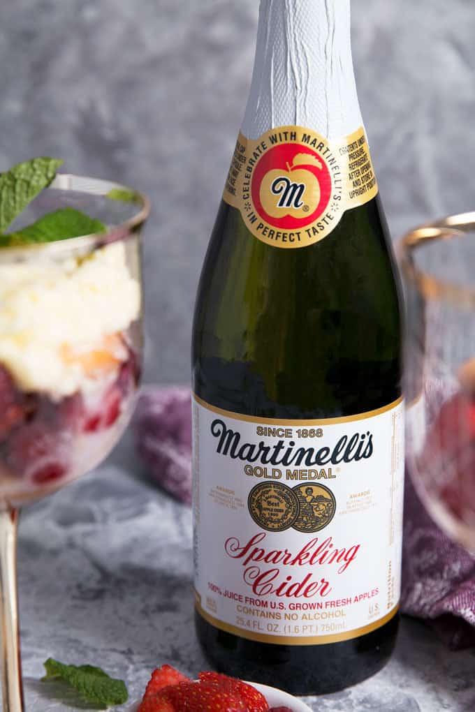 bottle of Martinelli's sparkling cider