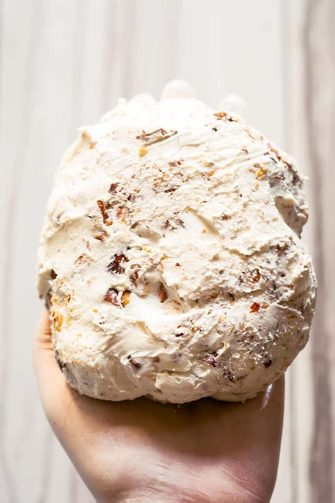 goat cheese ball with almonds