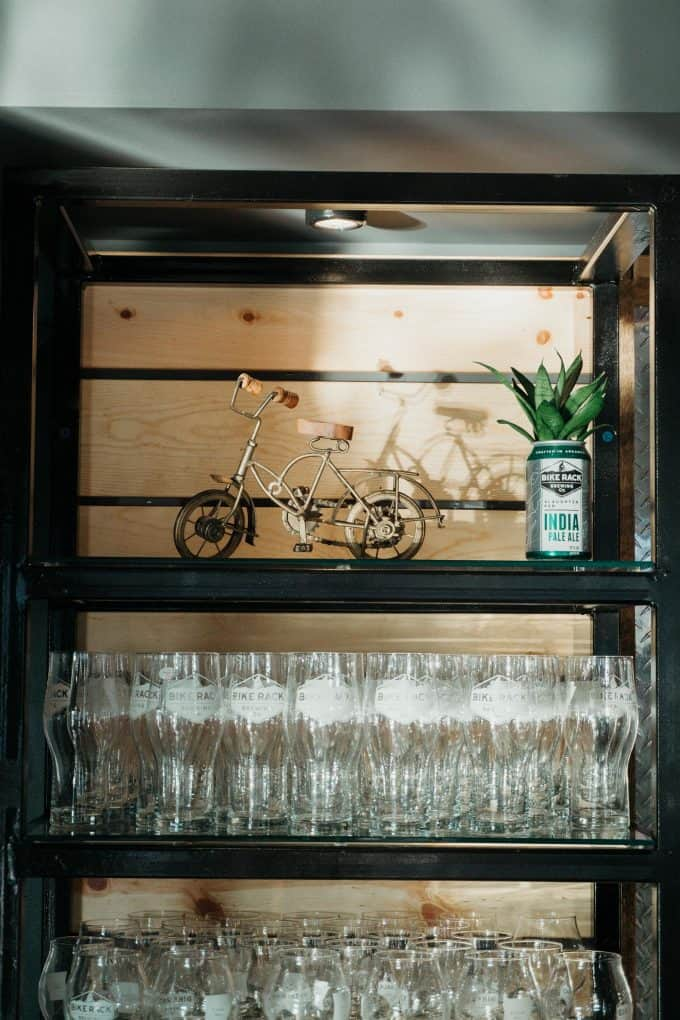 Bike Rack Brewing shelving