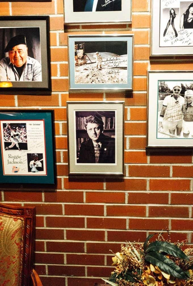 Picture of Bill Clinton at Fred's Hickory Inn